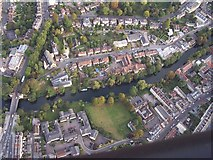 ST7565 : River Avon, Bath, from a balloon by Roger Beale