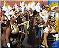 TQ2482 : Notting Hill Carnival dancers by David Hawgood