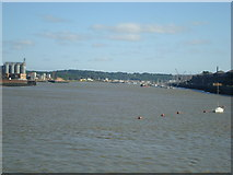 TQ7568 : River Medway from the end of Sun Pier, Chatham by Stacey Harris