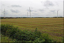 SK5758 : Lindhurst Farm Wind Turbines by Pete Wise