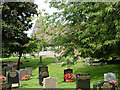 SJ8567 : Churchyard at Marton, Cheshire by Geoff Royle