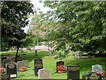 SJ8567 : Churchyard at Marton, Cheshire by Geoff Royle