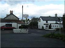 SS9674 : Llysworney village, garage and pub by Colin Pyle