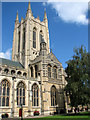 TL8564 : St Edmundsbury cathedral, Bury St Edmunds by Evelyn Simak