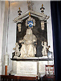 TL8564 : St Edmundsbury cathedral, Bury St Edmunds - monument by Evelyn Simak