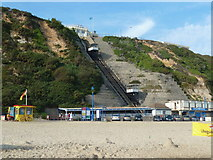 SZ0990 : East Cliff Lift from the beach, Bournemouth by Ruth Sharville