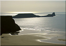 SS4088 : The south end of Rhossili Bay by Dave Croker