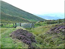 NT8523 : Gate on the Pennine Way by Oliver Dixon