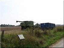 SU8402 : Harvesting in a field near to Dell Quay by Margaret Sutton