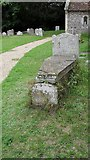 TM4077 : St. Peter, Holton: tomb in the churchyard by Basher Eyre