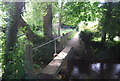 TQ5056 : Footbridge over the River Darent by N Chadwick