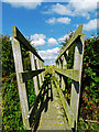 NZ4712 : Footbridge over a ditch that drains into Maltby Beck by Graham Scarborough