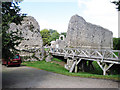 TQ5465 : Eynsford Castle by Oast House Archive