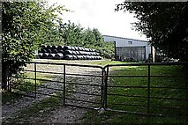 S6538 : Farm Building & Bales by kevin higgins