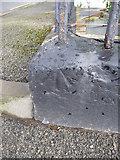 SH4862 : Benchmark at junction of Rhes Segontiwm & Stryd Newydd, Caernarfon by Meirion