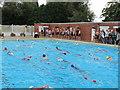 SJ6452 : North West Triathlon, Snowhill pool, Nantwich by David Hawgood