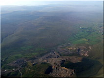 NS7330 : Opencast workings at Glenbuck from the air by Thomas Nugent