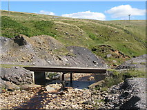 NY8944 : Bridge over Rookhope Burn above Grove Rake Mine by Mike Quinn