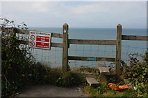 SN4562 : Stile accessing the Ceredigion Coastal Path by Nigel Brown