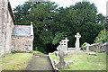 SX3954 : Antony: churchyard by Martin Bodman