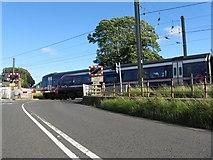 NT1067 : First train heading to Edinburgh by M J Richardson
