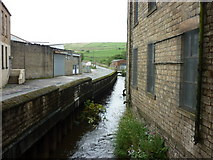 SD9311 : One of two streams at Two Bridges Road, Newhey by Ian S