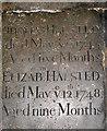 TG2309 : St Helen's Bishopgate, Norwich - C18 ledger slab by Evelyn Simak