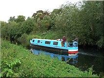 SK5907 : Narrowboat on River Soar by David P Howard