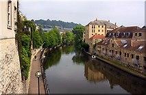 ST7565 : The River Avon in Bath by Steve Daniels