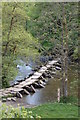 SS8632 : Tarr Steps Clapper Bridge across the River Barle, Exmoor by Matthew Bristow