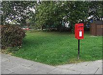 SJ7760 : Postbox, Sandbach Services by michael ely