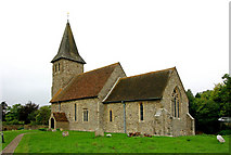 TR1439 : St Mary & St Radegund, Postling, Kent by John Salmon