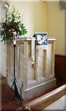 TR1439 : St Mary & St Radegund, Postling, Kent - Pulpit by John Salmon