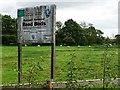 SK0425 : Old notice near Newton Bridge by Christine Johnstone