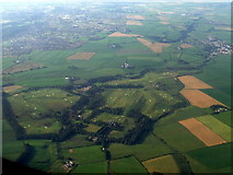 NS4342 : Rowallan Castle and Kilmarnock from the air by Thomas Nugent