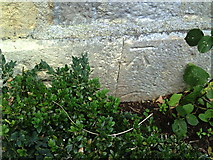 SP7006 : Benchmark on Regency Cottage, Aylesbury Road by Roger Templeman