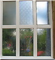 TQ2378 : Hammered (cathedral) glass window at the Voysey Studio by David Hawgood