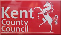 TR1139 : Kent County Council Sign by David Anstiss