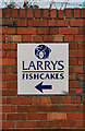 NZ3668 : LARRYS FISHCAKES by Peter McDermott