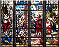 TM4679 : The church of SS Peter and Paul in Wangford - west window by Evelyn Simak