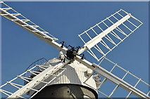 TF7632 : Great Bircham Windmill - Sails and Cap by Ashley Dace