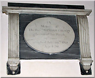 TG1807 : St Andrew's church in Colney - C19 memorial by Evelyn Simak