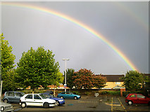 SU1584 : Rainbow over central Swindon by Brian Robert Marshall