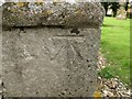 TM4160 : Bench mark on Friston St Mary's church by Adrian S Pye