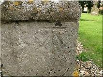 TM4160 : Bench mark on Friston St Mary's church by Adrian S Pye
