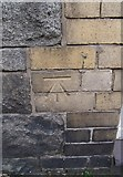 SH4862 : Benchmark at 17 Victoria Street, Caernarfon by Meirion