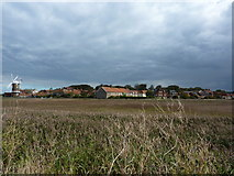 TG0444 : Reed marshes, windmill and Cley by Peter Barr