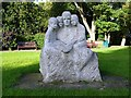 NZ1672 : Sculpture, Coates Green, Ponteland by Andrew Curtis
