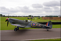 SU8707 : Spitfire at Goodwood Revival 2010 by Christine Matthews