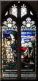 TM5286 : St Edmund's church in Kessingland - C20 stained glass by Evelyn Simak